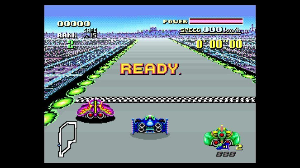 F-ZERO(1990年11月21日発売/RCG/任天堂) (※画像はWiiUバーチャルコンソール版です。任天堂ホームページより)