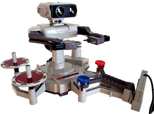 1985年に発売されたファミリーコンピュータロボット。(画像はWikipediaより)