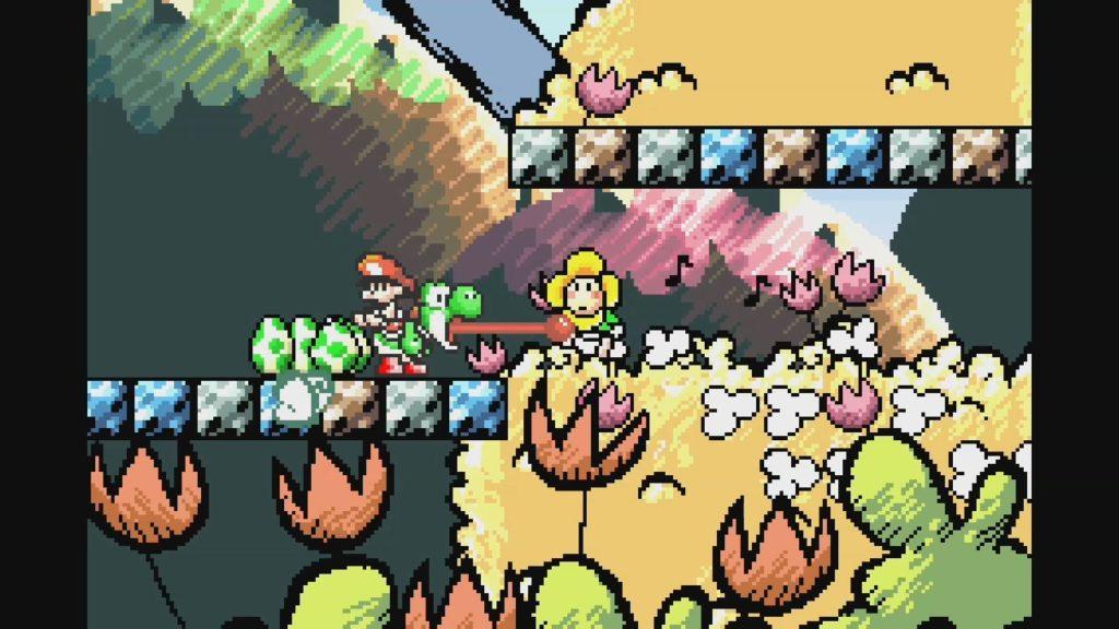 スーパーマリオ ヨッシーアイランド(1995年8月5日/ACT/任天堂) (※画像はWiiUバーチャルコンソール用ソフト『スーパーマリオアドバンス3』です。任天堂ホームページより)